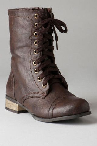 Trooper Brown Combat Boots