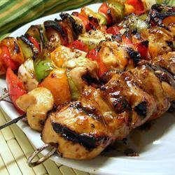 Chicken kabobs, Honey chicken kabobs and Honey chicken on Pinterest