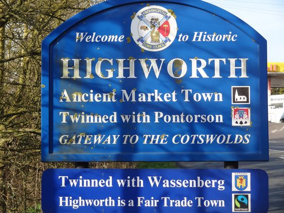 Welcome to Highworth, Ancient Market Town. Twinned with Pontorsom and Wassenberg. Highworth is a fair trade town and gateway to the Cotswolds.