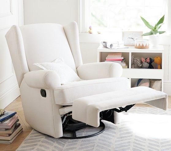 Modern Wingback Swivel Glider Recliner Nursery Chair Swivel Glider Recliner Rocking Chair Nursery