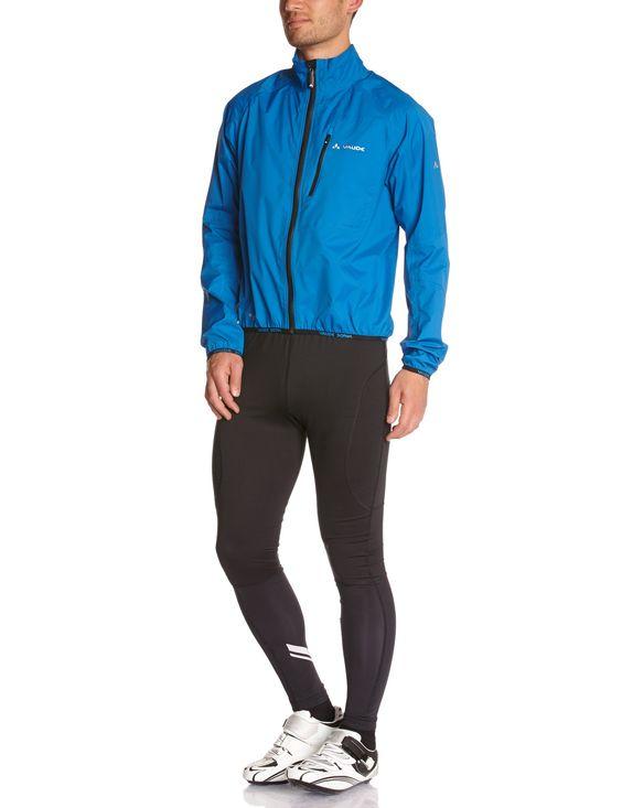 VAUDE - Chubasquero de ciclismo para hombre, tamaño S, color azul