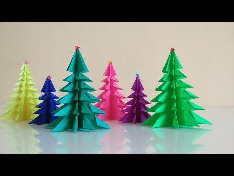 Christmas Tree How To Make Paper Christmas Tree 3d Paper Xmas Tree Youtube Paper Christmas Tree Diy Paper Christmas Tree Paper Tree