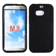 HTC One M8 Slim Hybrid Case Black www.azcellphones.com
