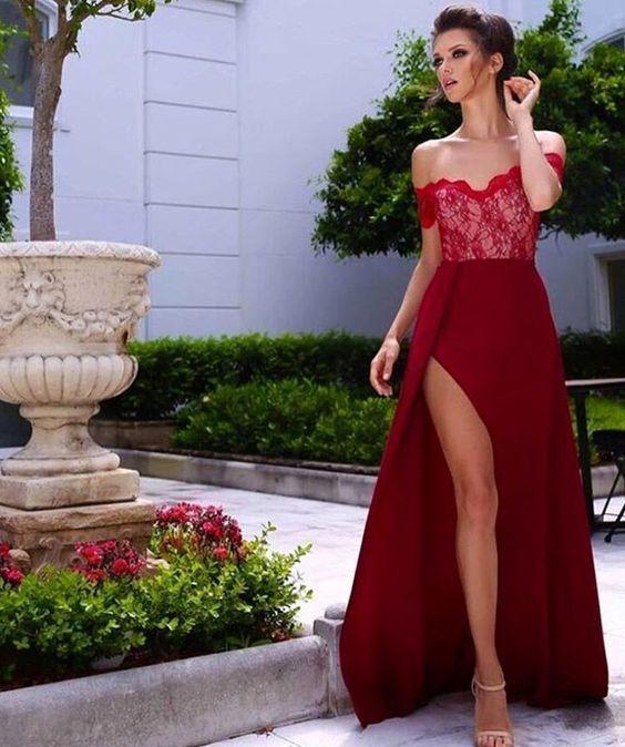 Prom dress 2018 long slit