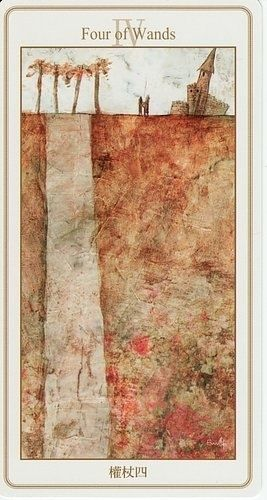 Four of Wands Card | Lunatic Tarot Deck | Oracle Cards | Modern Tarot Art | Divination