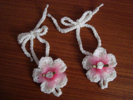 Barefoot Sandals - Baby Girls Crocheted