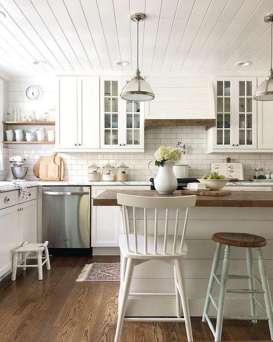 modern farmhouse kitchen subway tile backsplash