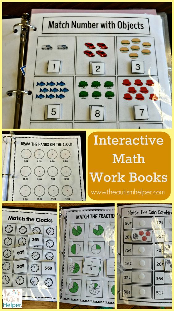 Hands-down one of our favorite resources - the Interactive Math Work Book Series contains 3 levels & a bundle (for those money saving lovers out there)! More of what each level includes at theautismhelper.com