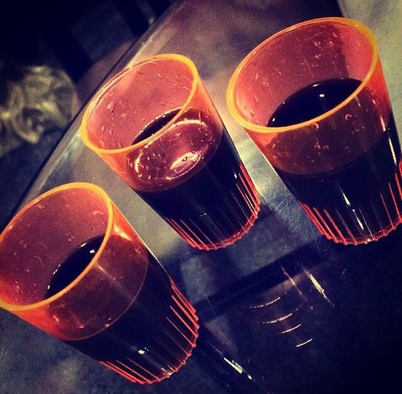 Chocolate vodka shooters