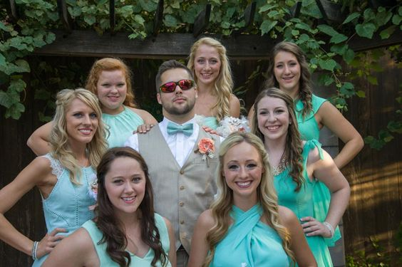 Tulsa Wedding Photographer.  This is always a great shot with the groom and bridesmaids.
