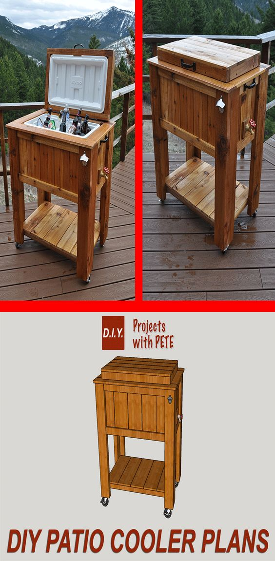 Diy patio cooler ice chest project diy projects for Diy patio cooler