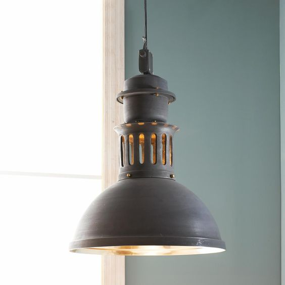Old Warehouse Light Fixtures: Large Modern Industrial Vented Warehouse Pendant