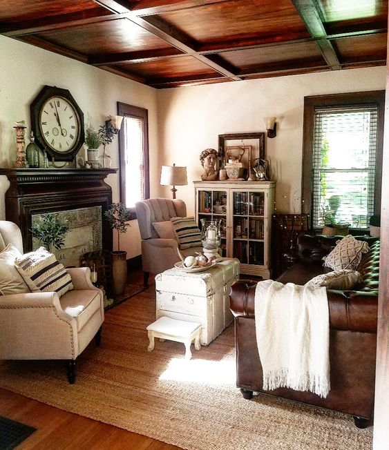 neutral living room jute rug linen chairs leather chesterfield sofa soft surroundings jute rug