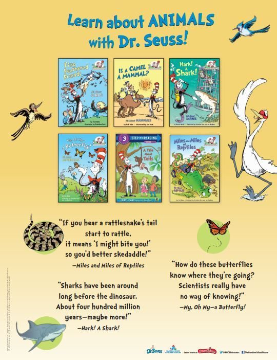 Learn About Animals With Dr Seuss Seuss Animal Posters Activities