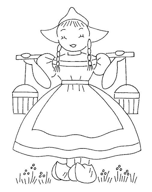 dutch children coloring pages-#7
