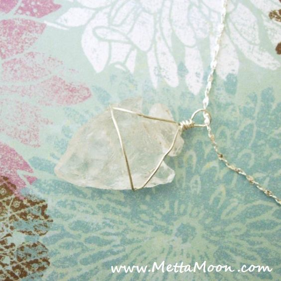 MettaMoon Clear Fish Pendant Necklace.  ...  Quartz Crystal can bring the energy of the stars into the soul.