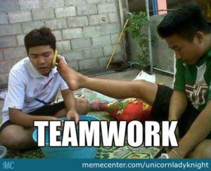 11 Coolest Teamwork Meme And Lessons To Be Learned My Cool Team Teamwork Teamwork Funny Back To Work Quotes