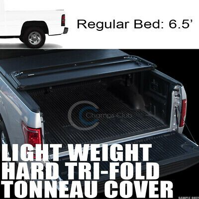 TRI-FOLD SOFT TONNEAU COVER FOR 04-15 NISSAN TITAN KING//EXTENDED CAB 6.5 FT BED