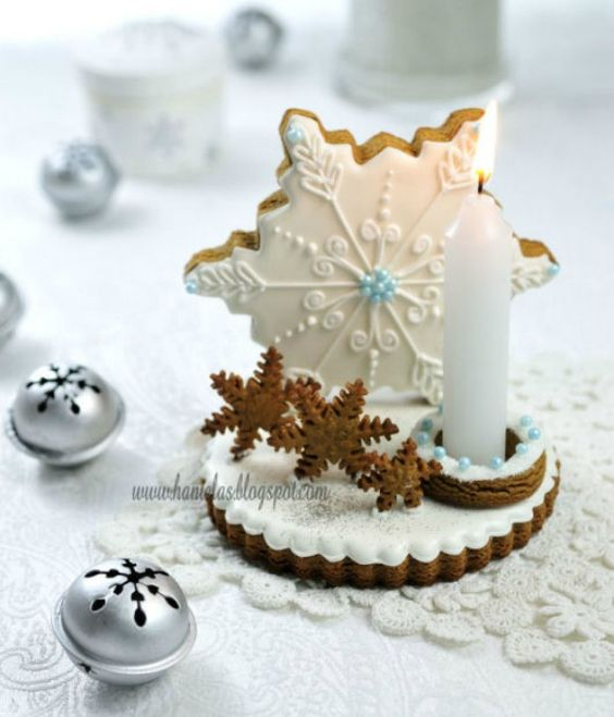 gingerbread candle holder by Haniela's