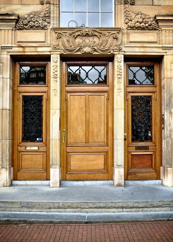 Wooden #door in #Amsterdam, #Netherlands