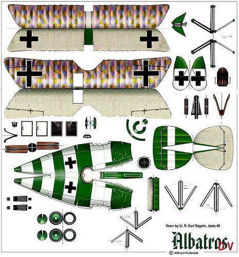 Albatross D-V (Lt Karl Degelow, Jasta 40):