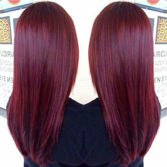 Magenta burgundy wine red hair color