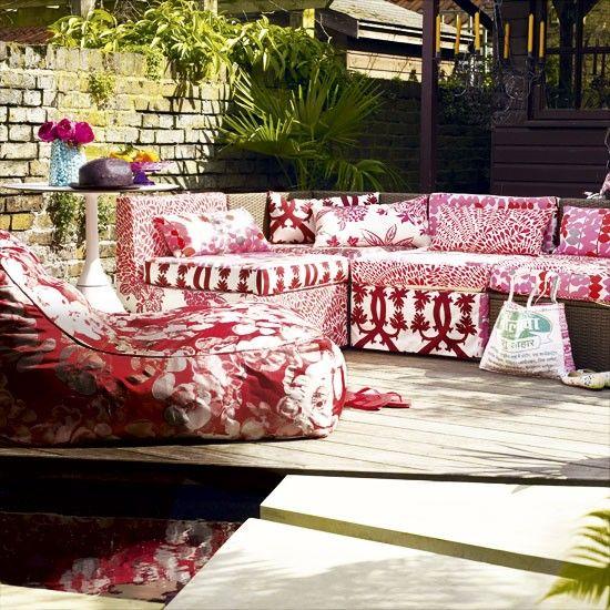 Garten Terrasse Wohnideen Möbel Dekoration Decoration Living Idea Interiors home garden - Vibrant Freien unterhaltsamen Bereich