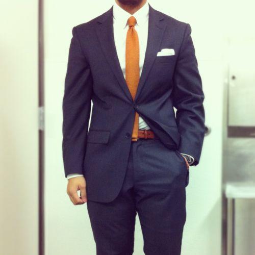 orange tie amp blue suit great groomsmen look for an au
