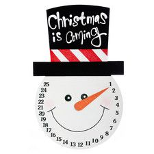 Snowman Countdown to Christmas Wall Decor