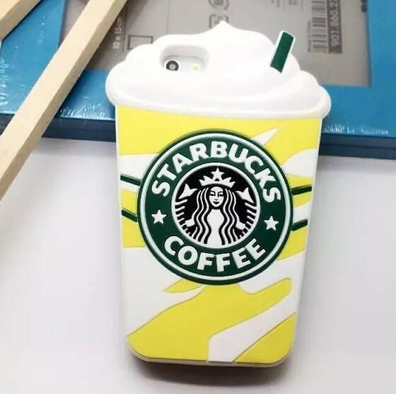 Newest hot selling 3D fashion bling bling clear girls starbucks silicone cell phone cases fashion for iphone 4 4s 5 5s 6 6plus