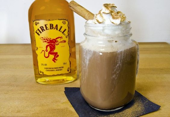 Making Drinks With Fireball Whisky