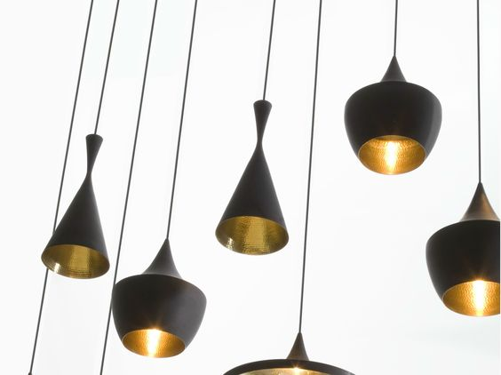 Suspension en laiton BEAT LIGHT TALL Collection Beat by Tom Dixon | design Tom Dixon