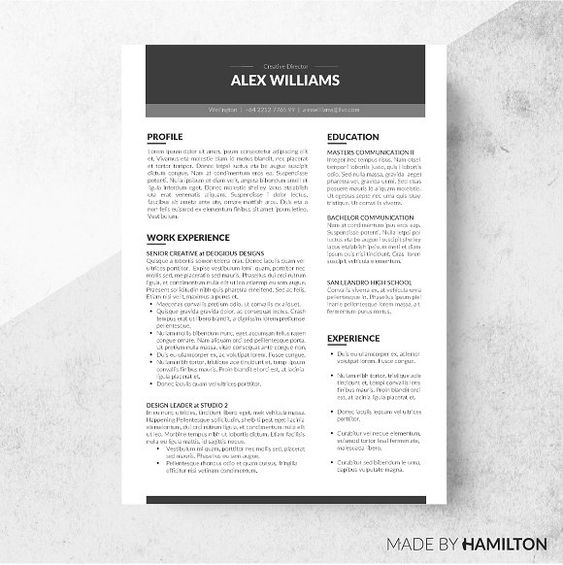 Perfect Resume Template. Best 25+ Best Resume Template Ideas On
