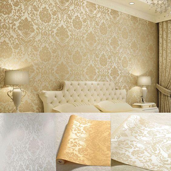 Pinterest the world s catalog of ideas for Glitter wallpaper for bedroom