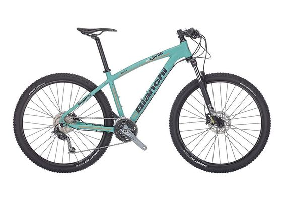 For my off road and everyday riding to the gym and grocery boutiques, this is my mountain bike - BIANCHI Kuma 27.1