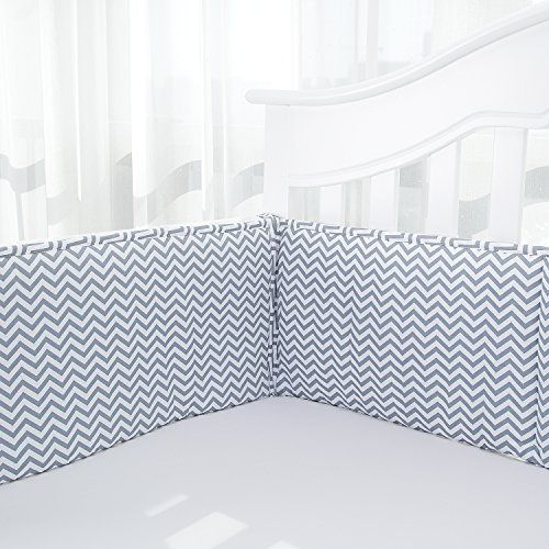 Cotton Collection Breathable Crib Bumper Pads For Standard Cribs Machine
