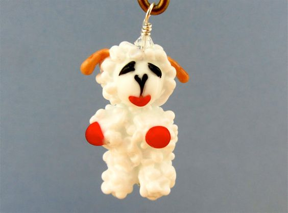 Custom Lambchop Pendant For Loraine  Lampwork Glass by SUZOOM, $30.00