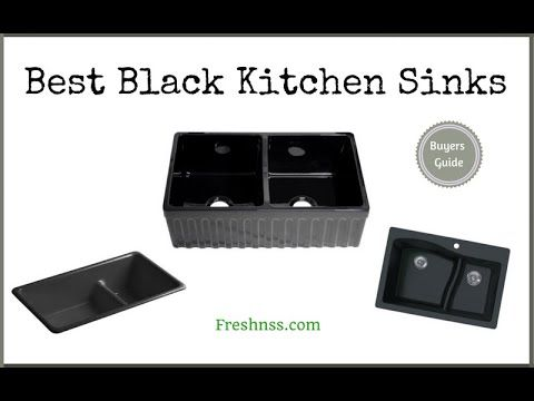 Reviews Of The 12 Best Black Kitchen Sinks Plus 1 To Avoid The Look Of Stainless Steel Appliances Against One Black Kitchen Sink Kitchen Sink Black Kitchens
