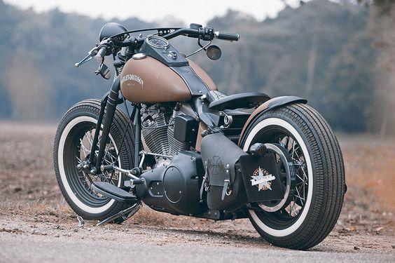 Brown Sugar - Maik's Personal customized Harley-Davidson Softail Slim