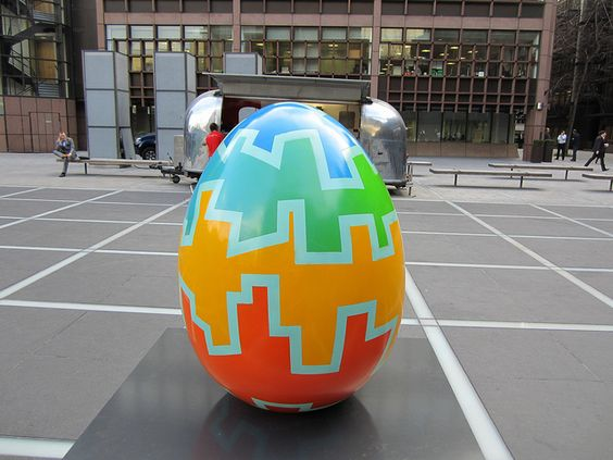 Another egg from the Big Egg Hunt happening across London (we made the stands for all the eggs! www.piggotts.co.uk)