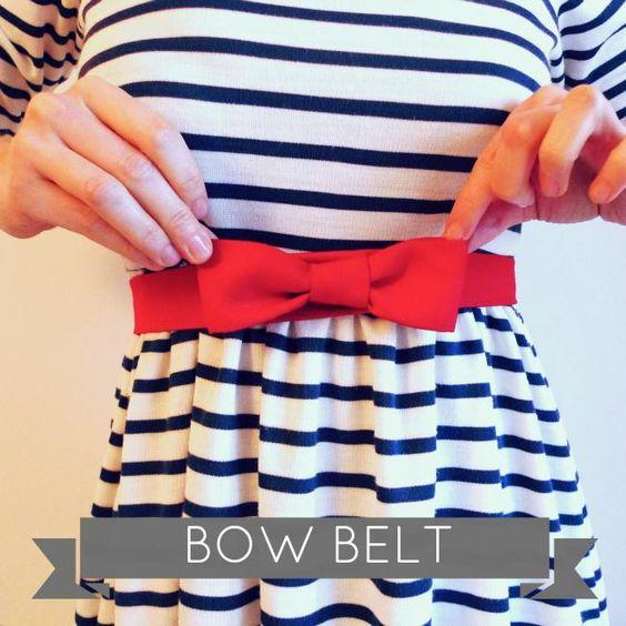 DIY belt: Bow Belt, Diy Fashion, Diy Belts, Sewing Ideas, Sewing Tutorials