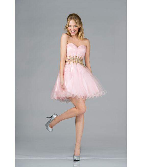 Shorts, Prom dresses and Pink and gold dress on Pinterest