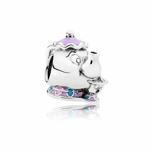 NEW Authentic Pandora Bead Mrs. Potts & Chip Charm Mixed Enamel ...
