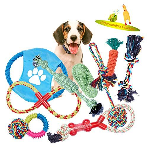 Viewlon Dog Chew Toys Rope Dog Toy Puppy Toy Set Pet Rope Ball