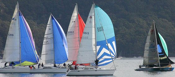 Spinnakers by iansand, via Flickr