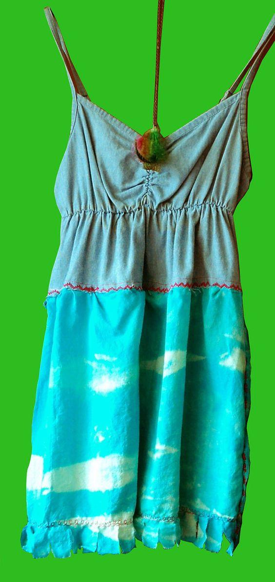 Long top or short dress YOGANUP turkooise  aqua bleu by BARRABOZA