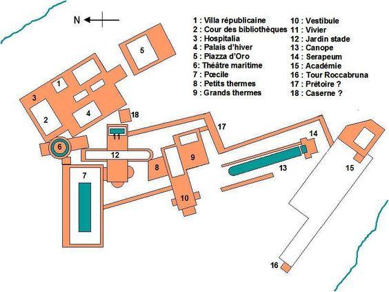 Villa-Hadriana-map - Villa d'Hadrien — Wikipédia