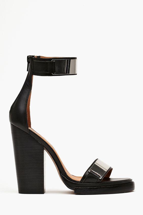 Tilda Platform in Black Leather