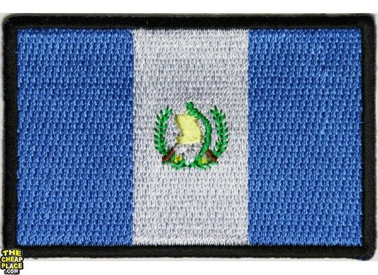 Guatemala Flag Embroidered Patch - iron-on or sew-on