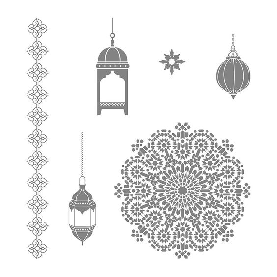 Moroccan Nights Wood-Mount Stamp Set by Stampin' Up!